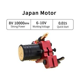 Image 4 - רוטרי קעקוע מכונת יפני מנוע אלומיניום סגסוגת מסגרת (אדום)