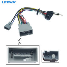 Leewa 16pin Auto Media Speler Navi Radio Kabelboom Voor Honda 14-17 Fit Stad Greiz Audio Power Kabel adapter # CA3413(China)