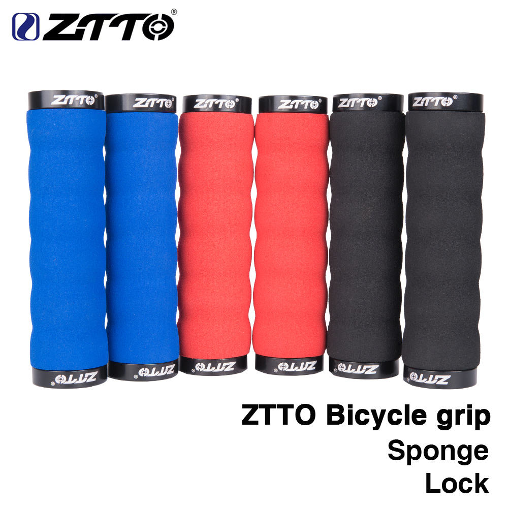 ZTTO <font><b>Bicycle</b></font> <font><b>Parts</b></font> MTB Comfortable Sponge Shock-Proof Anti-Slip Lock Grips For Mountain Bike <font><b>Bicycle</b></font> With Bar Plug AG30 1Pair image