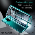 360 magnetic metal adsorption box for Huawei p40 p30 p20 mate 20 30 pro for Huawei honor 20 30 30s nova 5 6 7 pro case