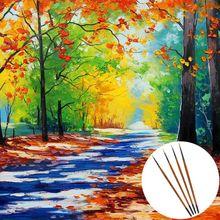 10pcs/set Fine Hand Detail Painted Thin Hook Line Pen Drawing Point Tip Nylon Brush Acrylic Painting Craft Art Supplies QX2B