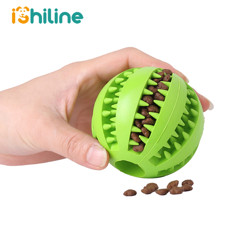 Pet Sof Pet Dog Toys Toy Funny Interactive Elasticity Ball Dog Chew Toy For Dog Tooth Clean Ball Of Food Extra-tough Rubber Ball(China)
