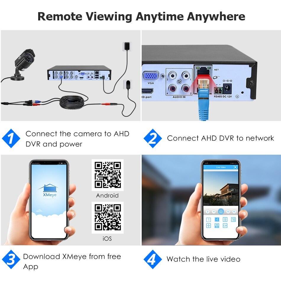 Hiseeu 5MP AHD Überwachungs Kamera 1080P Metall Wasserdichte Outdoor CCTV Kamera Sicherheit Außen Kugel Kamera für CCTV DVR System