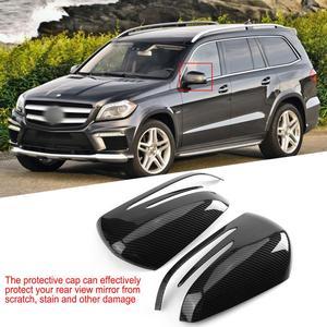 Image 5 - 2 шт., боковое зеркало заднего вида из углеродного волокна, Накладка для Mercedes Benz A B C E GLA Class W204 W212, АБС пластик, автомобильные аксессуары