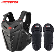 HEROBIKER Motorcycle Armor Vest Protection Riding Chest Motocross Racing & Knee Pads
