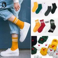 Забавные женские носки в стиле Харадзюку, различные цвета, милые женские носки, женские дизайнерские носки для школьников, женские стильные трендовые женские носки в Корейском стиле