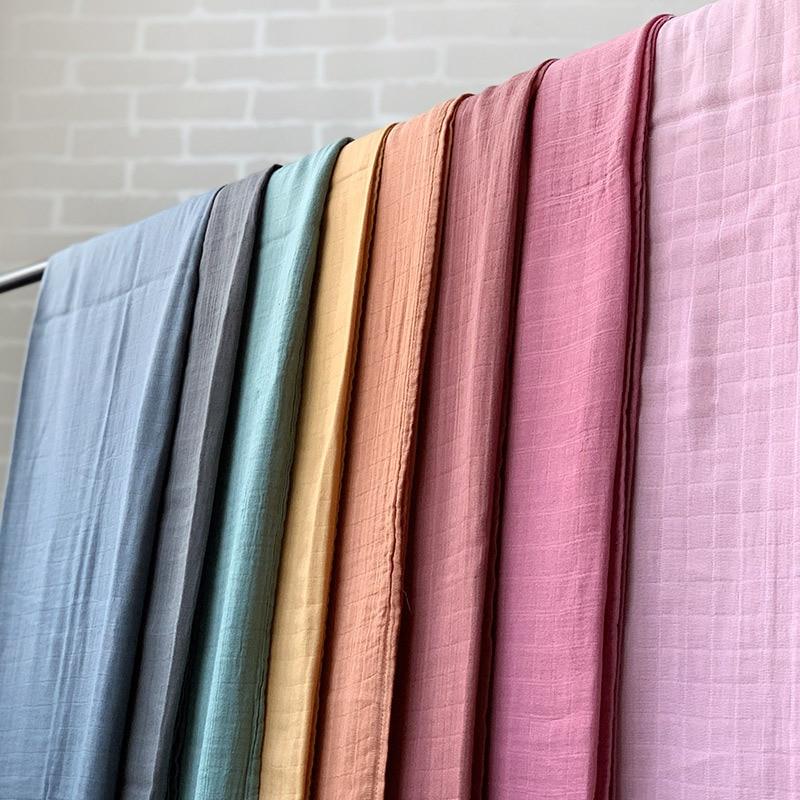120x120cm Bamboo Baby Swaddle Blankets Solid Plain Color Baby Blankets Newborn Cotton Gauze Blanket Muslin Baby Bath Towel