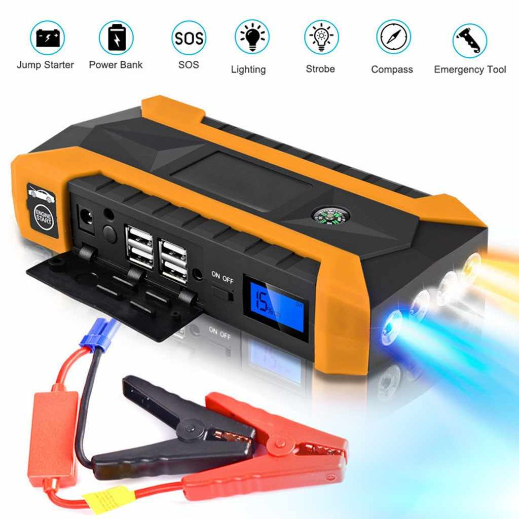 12v battery ups 12v89800mAh 12V LCD 4 USB Car Jump Starter Pack Booster Charger Battery Power Bank аккумулятор  rechargeable bat