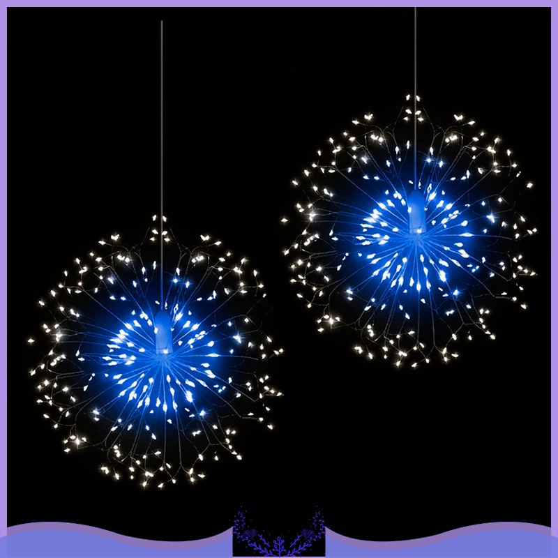 Outdoor IP44 Hanging Starburst String Light 120 LED Firework Copper Lights  Christmas Hanging Light String Xmas Decoration