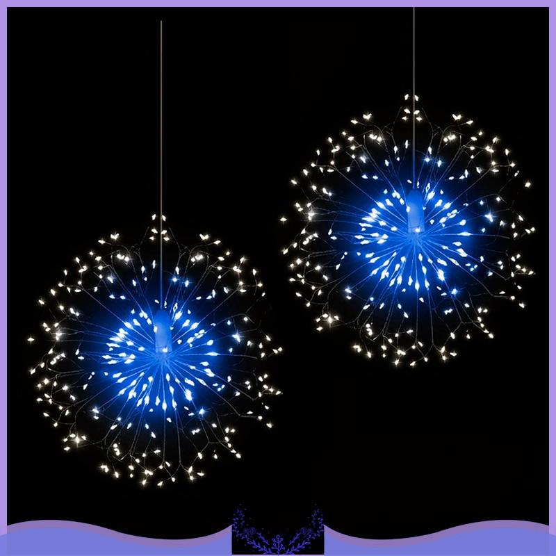 Outdoor IP44 Hanging Starburst String Light 120 LED Firework Copper Lights  Christmas Hanging Light String Xmas Decoration