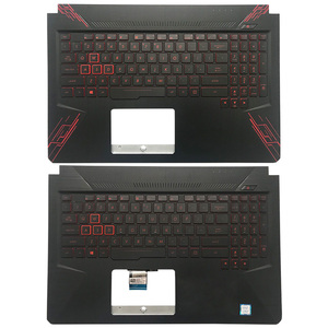 95%NEW Original For ASUS TUF Gaming FX504 FX86 FX86S FX505 FX80 FX80G FX80GD Laptop Palmrest Upper Case US Backlight keyboard