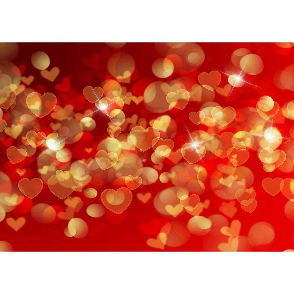 BOKEH HEARTS vinyl Photography Backdrop