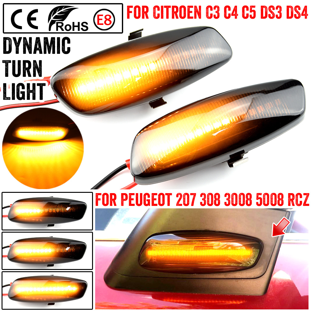 2x LED Licence Number Plate Light White Canbus For C3 III C4 II C5 III DS4 208 2008 308 II 3008 II 5008 II