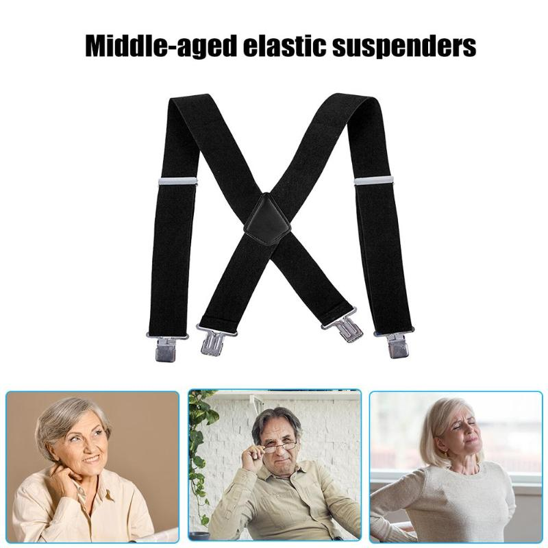 Adjustable Elasticated Adult Suspender Straps Y Shape Clip-on Men's Suspenders Strap Clip-on For Pants Trousers Brace Belt