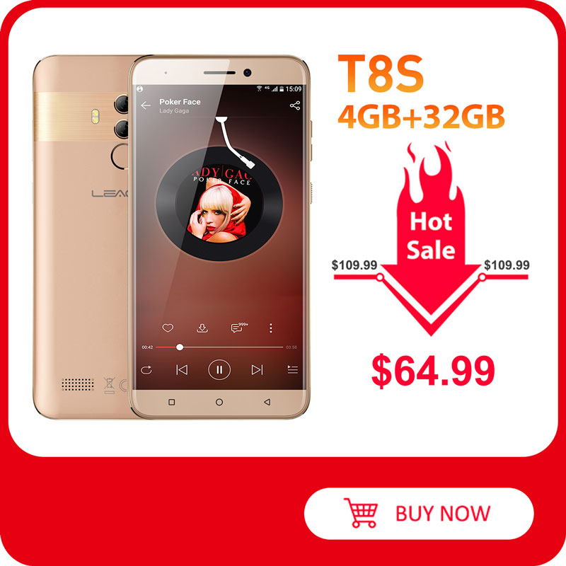 LEAGOO T8s 4GB 32GB T8s-Face-Id Smartphone Quick Charge 4.0 Fingerprint Recognition 13mp