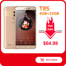 LEAGOO T8s identificación facial teléfono inteligente 5,5 ''FHD Incell RAM 4GB ROM 32GB Android 8,1 MT6750T Octa Core 3080mAh cámaras duales teléfono móvil 4G