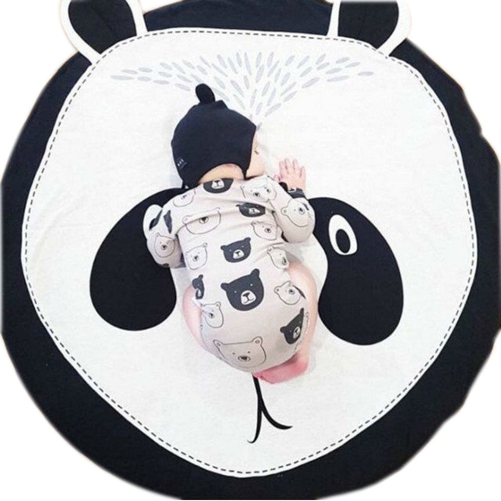 INS Hot Selling Home Mat Infant Pure Cotton Crawl Pad Panda Game Mat Baby Play Pacify Seat Cushion