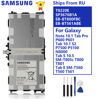 цена на Battery For Samsung Note 10.1 Tab Pro P600 P601 SM-T520 SM-T525 SM-P605 P607T T8220E P7500 P5100 N8000 T800 T801 T805 T560 T561