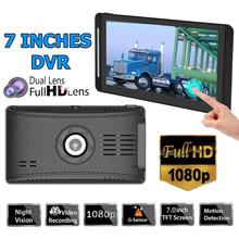 Buy WONVON Car DVR Dual Lens Dash Cam Front Rear 1080P+720P Stream Media Rearview Mirror Touch Screen Dash Camera Dashcam for Bus directly from merchant!