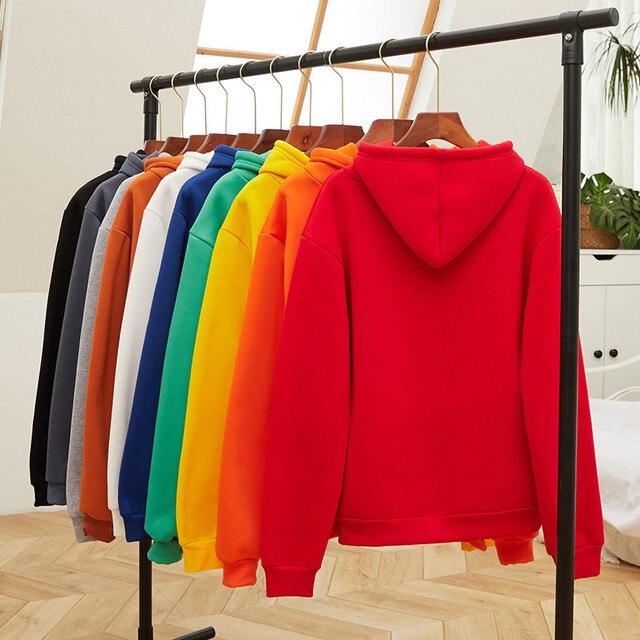 14 Colors Fleece Thick Warm Oversized Print Cherry Hoodie Women Long Sleeve Cute Kawaii Brand Sweatshirts and Hoodies Ladies 5