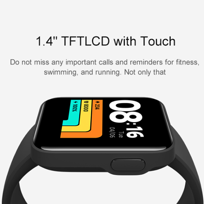 Mi Watch Lite глобальная версия GPS фитнес-трекер монитор сердечного ритма спортивный браслет 1,4 дюйма Bluetooth 5,0 умные часы-4