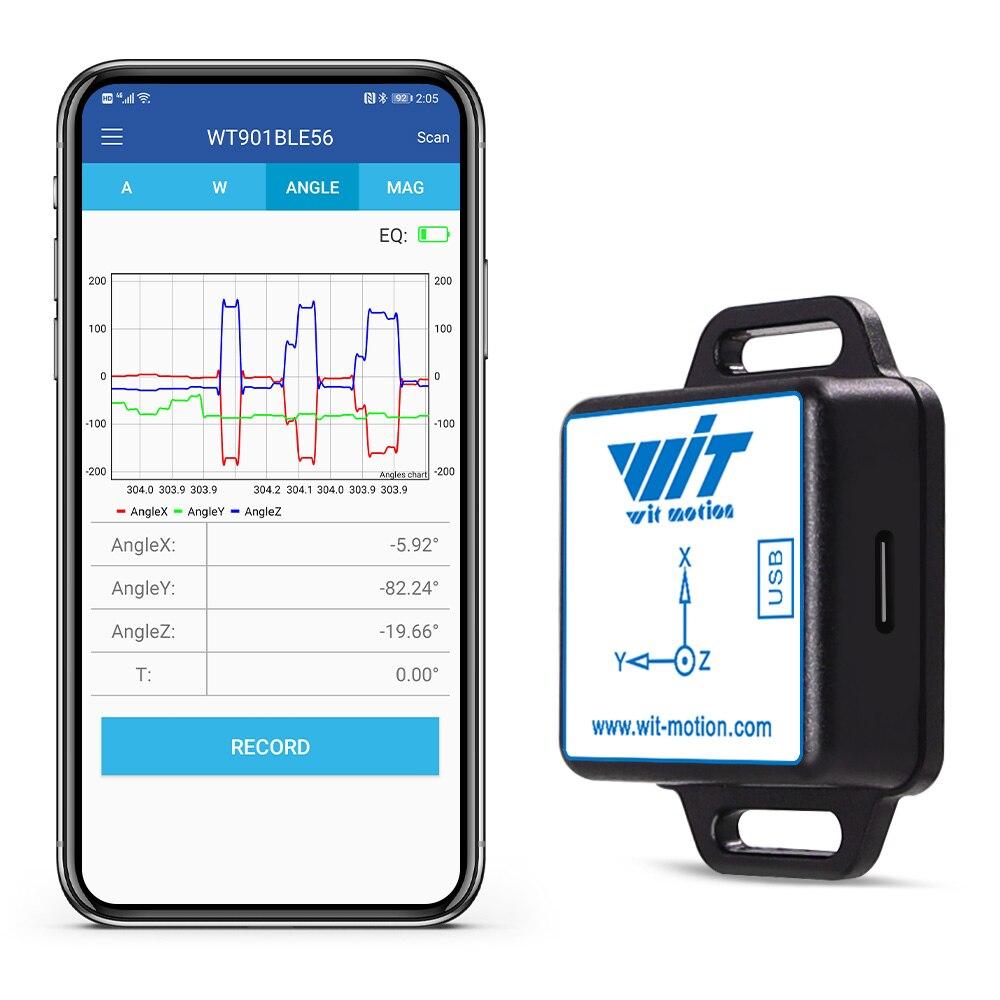 WitMotion WT901BLECL BLE 5,0 низкое потребление 3 оси акселерометр + гироскоп + магнитометр MPU9250 для IOS/Android, диапазон 50 метров