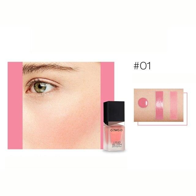 Płyn do makijażu róż do policzków Nude Makeup Repair Blush Rouge kosmetyki do makijażu