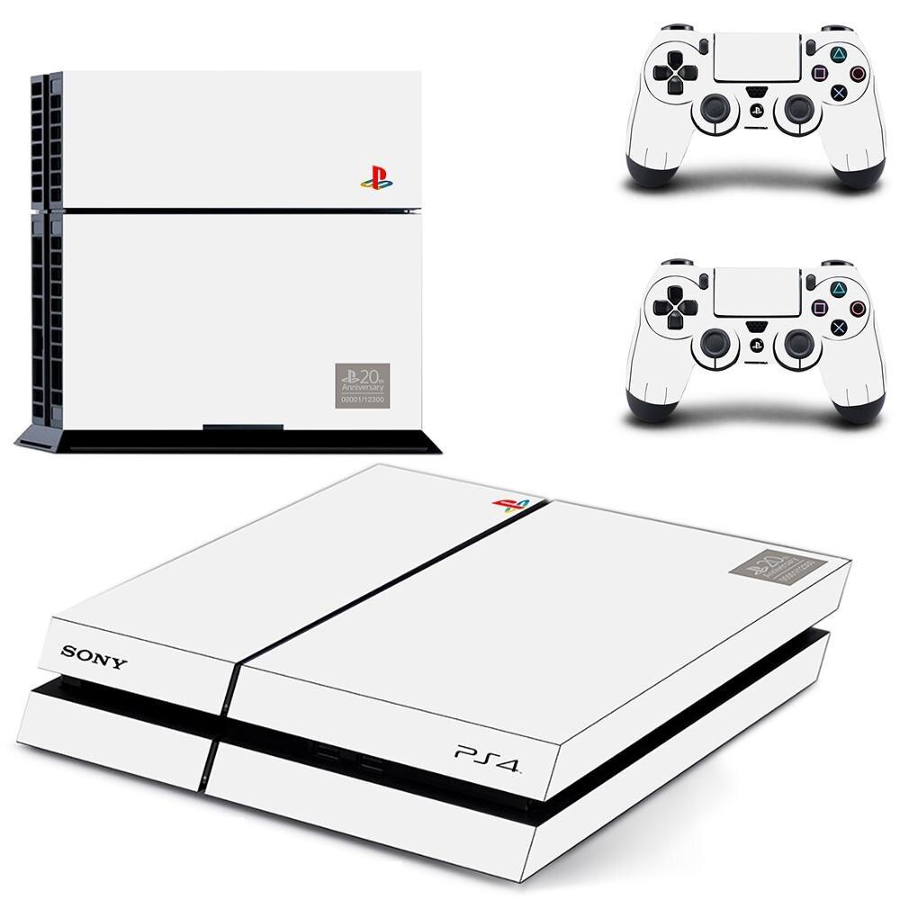 لوحة تحكم ووحدة تحكم ألعاب PS4 بلون أبيض نقي ملصق غطاء كامل لواصق غطاء كامل لبلايستيشن 4 دوال شوك 4 PS4 ملصق جلدي|ملصقات| - AliExpress