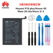 Hua Wei 100% Orginal HB386589ECW 3750mAh Battery For Huawei V10 P10 Plus Honor Play Honor 20S Honor 8X Play Nova 4 Mate20 +Tools недорого