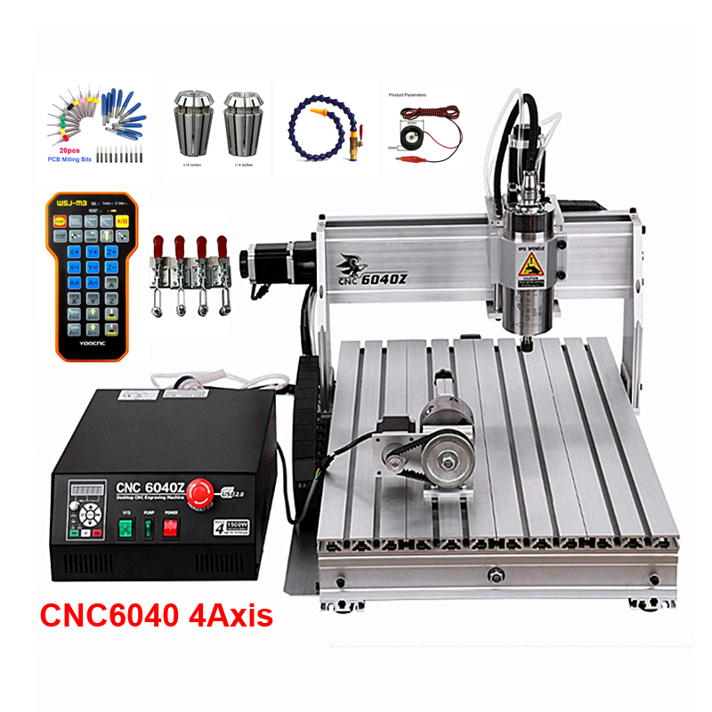 CNC 2200W YOOCNC Engraving Machine 6040Z Ball Screw USB Cnc Router With ER16 Collet For Woodworking