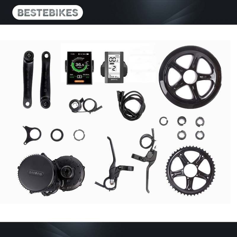 Bafang motor BBS02B 48V 750w 52V21AH 52V15 6AH battery electric bike conversion kit batterie velo electric motor in Electric Bicycle Motor from Sports Entertainment