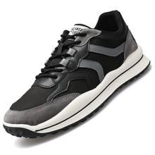 Męskie trampki lekkie trampki ze sztucznej skóry 2021 nowe wygodne odkryte oddychające buty do biegania mieszkania męskie obuwie tanie tanio WIENJEE CN (pochodzenie) RUBBER Lace-up Pasuje prawda na wymiar weź swój normalny rozmiar Podstawowe Mieszane kolory