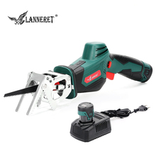 цена на LANNERET Cordless Reciprocating Saw 12V  2.0Ah Lithium-Ion Battery Electric Wood Saw Replacement Clamp Portable Saber Saw