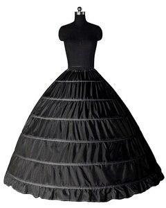 Image 2 - Plus Größe Große Stahl Hochzeit Taschen 6 Braut Kleid Extra Große Schiebe Stahl Weiß 6 Hoops Petticoat Krinoline Slip Petticoat