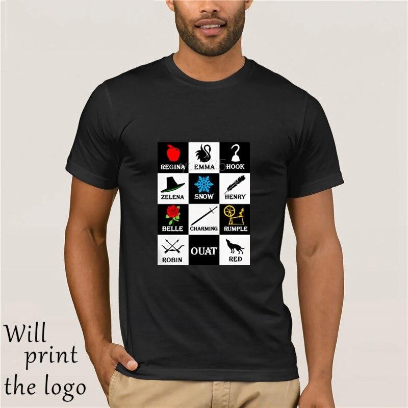 Il était une fois Uomo unisexe t-shirts t-shirt Capitan Uncino Killian Jones Emma Swan Il Salvatore Rumplestiltskin Regina Del