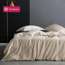 Sondeson Luxury 100% Silk 25 Momme Bedding Set Silk Healthy Skin Beauty Duvet Cover Set Flat Sheet Pillowcase Bed Set For Adult