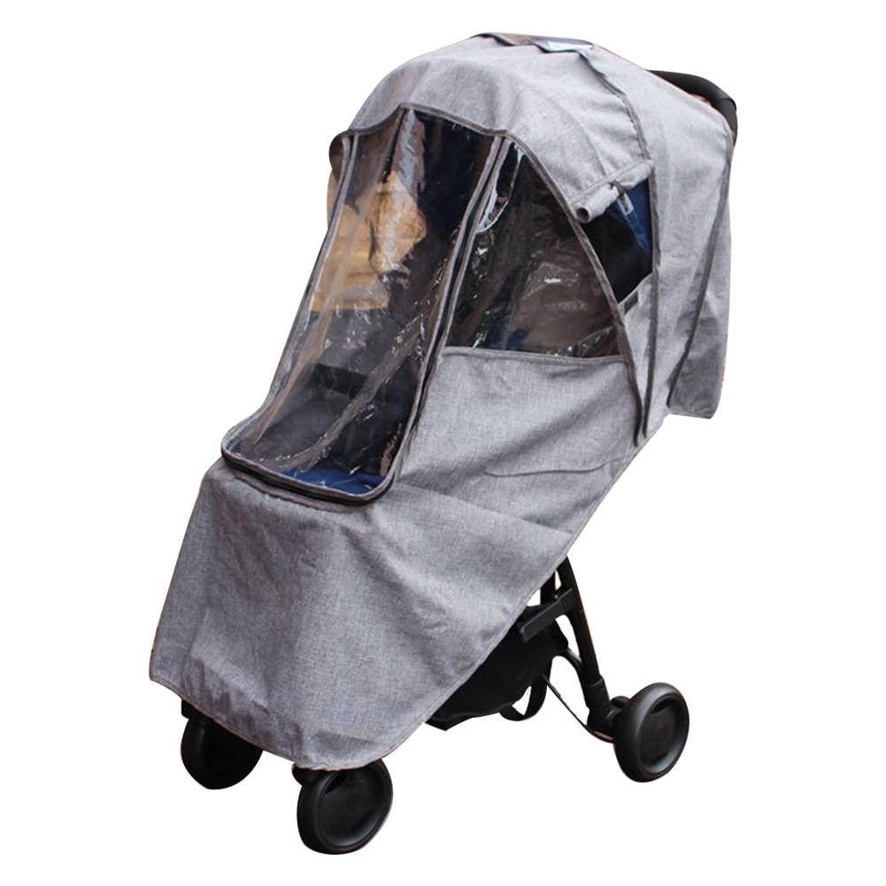 Universal Waterproof Baby Stroller Pushchairs Wind Shield Rain Cover Transparent