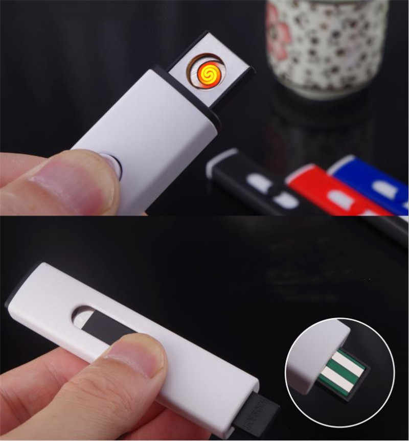 USB الإلكترونية أخف وزنا قابلة للشحن ولاعة السجائر يندبروف البلازما قوس أخف إنسينديدور التدخين الأدوات للرجل لا الغاز