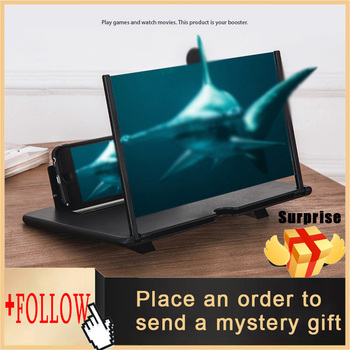 10 Inch 3D Phone Screen Amplifier Mobile Phone Magnifier Glass HD Stand for Video Folding Screen Enlarged Eyes Protection Holder