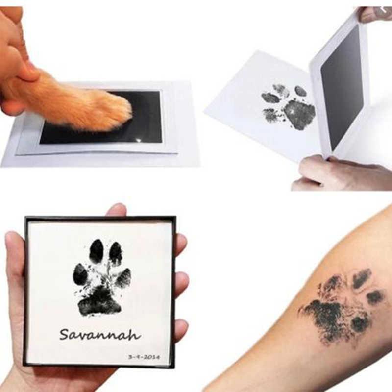 Perawatan Bayi Tidak Beracun Handprint Footprint Imprint Kit Souvenir Casting Baru Lahir Tinta Pad Bayi Clay Mainan Anjing Kucing Paw hadiah