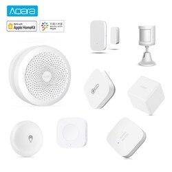 AQara комплект для умного дома шлюз концентратор Датчик движения человека окно дверь датчик воды беспроводной переключатель работает с Apple ...