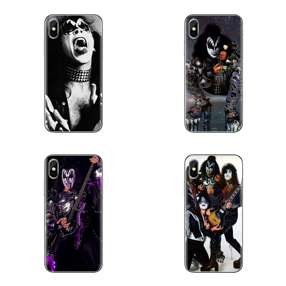 Silicone Phone Housing For LG G3 G4 Mini G5 G6 G7 Q6 Q7 Q8 Q9 V10 V20 V30 X Power 2 3 K10 K4 K8 2017 Gene Simmons From Kiss Band