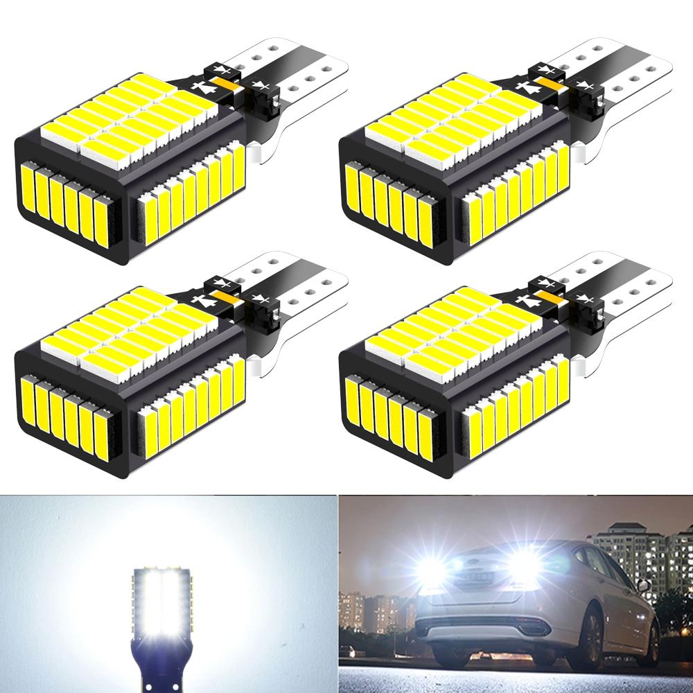 4x W16W T15 светодиодный Canbus лампы 921 912 для Ford Focus 2 3 Fusion Flex Fiesta Escape C Макс край F-150 Автомобильная резервная копия светильник белого цвета