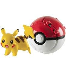 La TOMY pokemon 7cm bola pikachu figura pokeball monstruo variante brinquedo figura modelo brinquedos educativos regalos de los niños