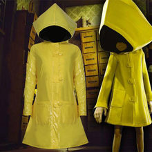 1pcs Game Little Nightmares 2 Six Cosplay Costume Halloween Party Yellow Coat Outfit Uniform C101M141