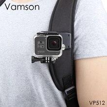 Vamson Voor Gopro 9 8 Accessoires Rugzak Clip Clamp Mount Voor Go Pro Hero 8 7 6 5 4 Voor yi 4K Voor Sjcam Voor Eken Actie Camera