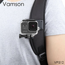 Vamson for GoPro 9 8 액세서리 백팩 클립 클램프 마운트 Go Pro Hero 8 7 6 5 4 for Yi 4K for SJCAM for EKEN 액션 카메라