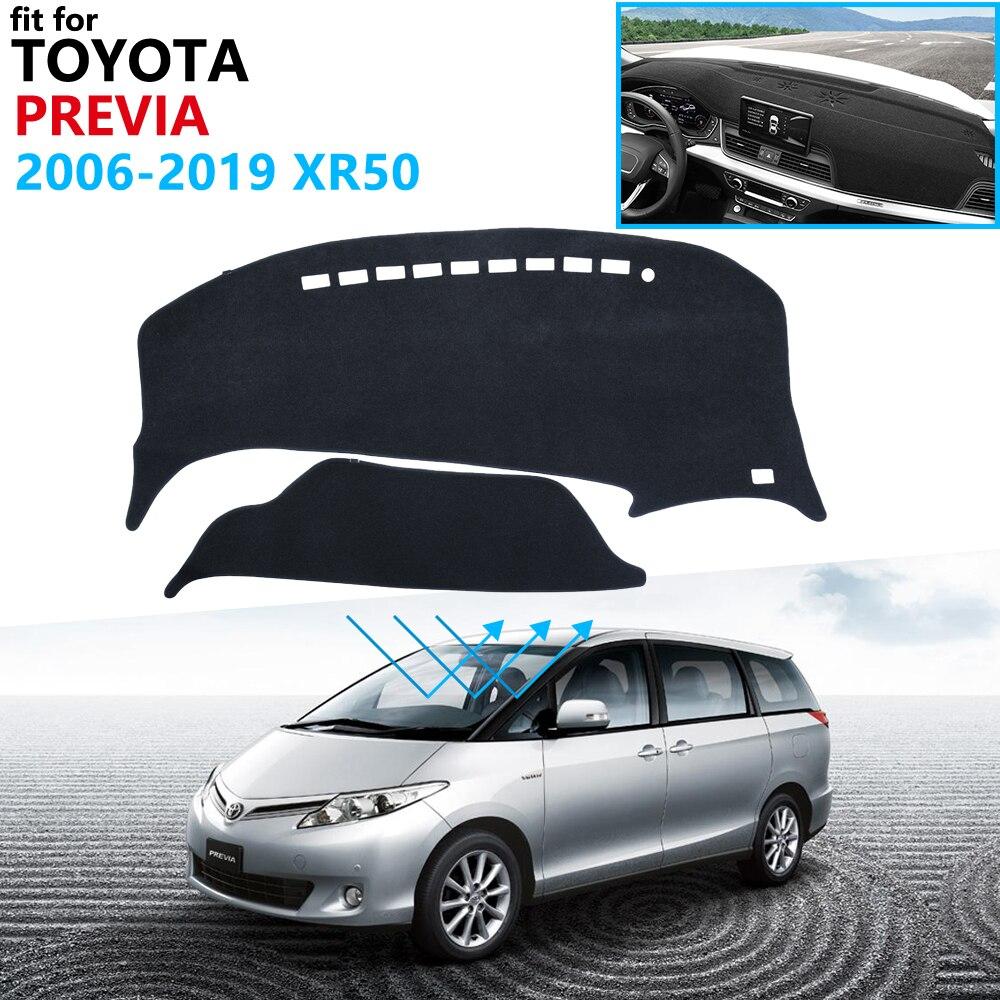 Dashboard Cover Protective Pad For Toyota Previa 50 2006~2019 XR50 Estima Tarago Accessories Dash Board Sunshade Carpet Anti-UV