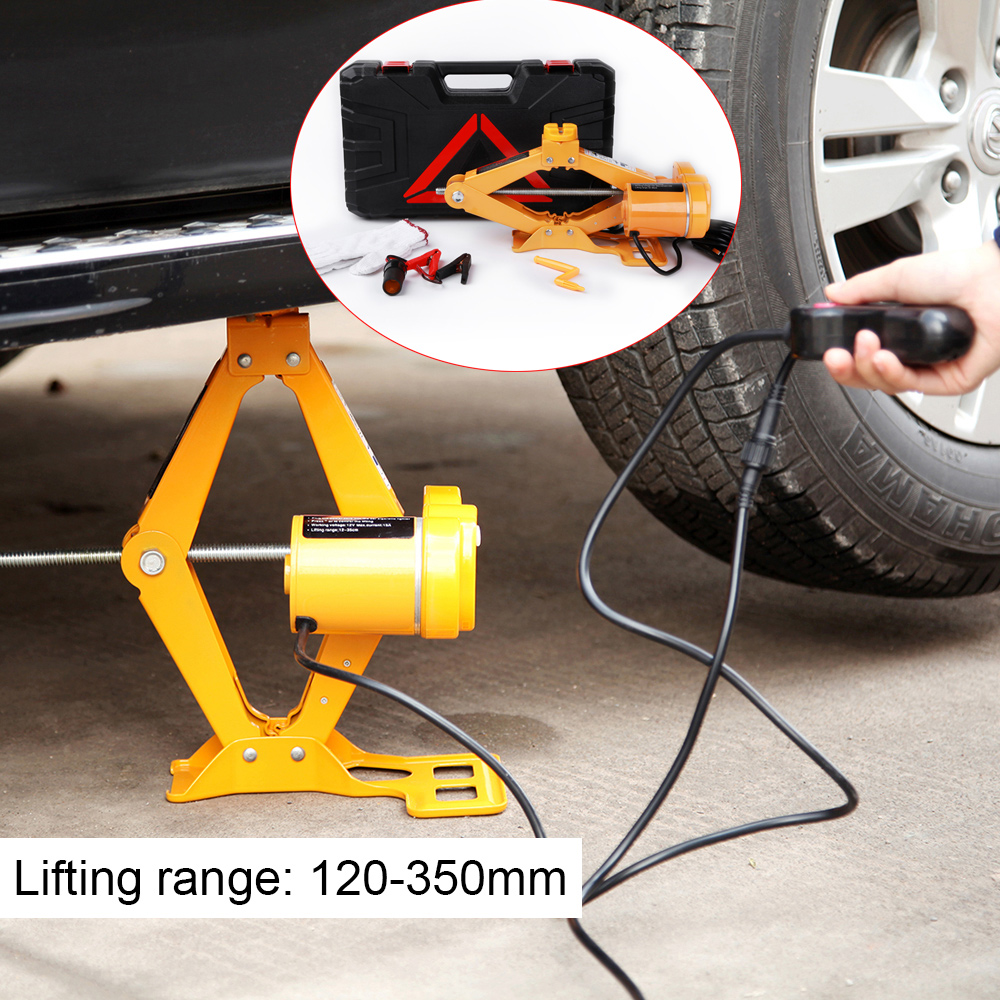Electric Jack Lifting Range 120-350mm Scissor-type Car Steel Electric Jacks Vehicle Tire Remover Equipment Auto Repair Tool