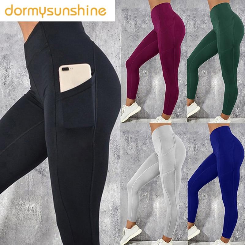 COOL Laamei Fitness Women Leggings Push Up  High Waist Pocket Workout Leggins 2019 Fashion Casual  Mujer Long Pants